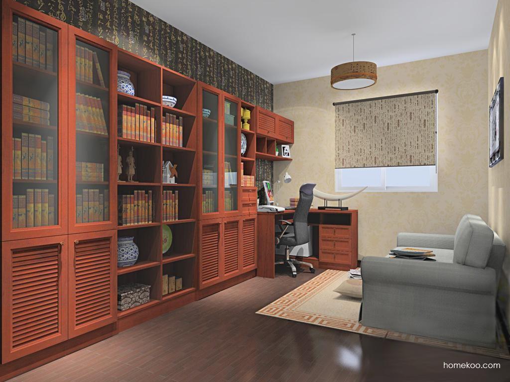 新中式主义书房家具C11359