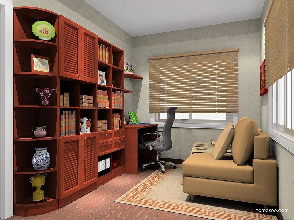 新中式主义书房家具C11441