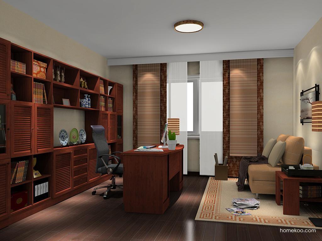 新中式主义书房家具C11446