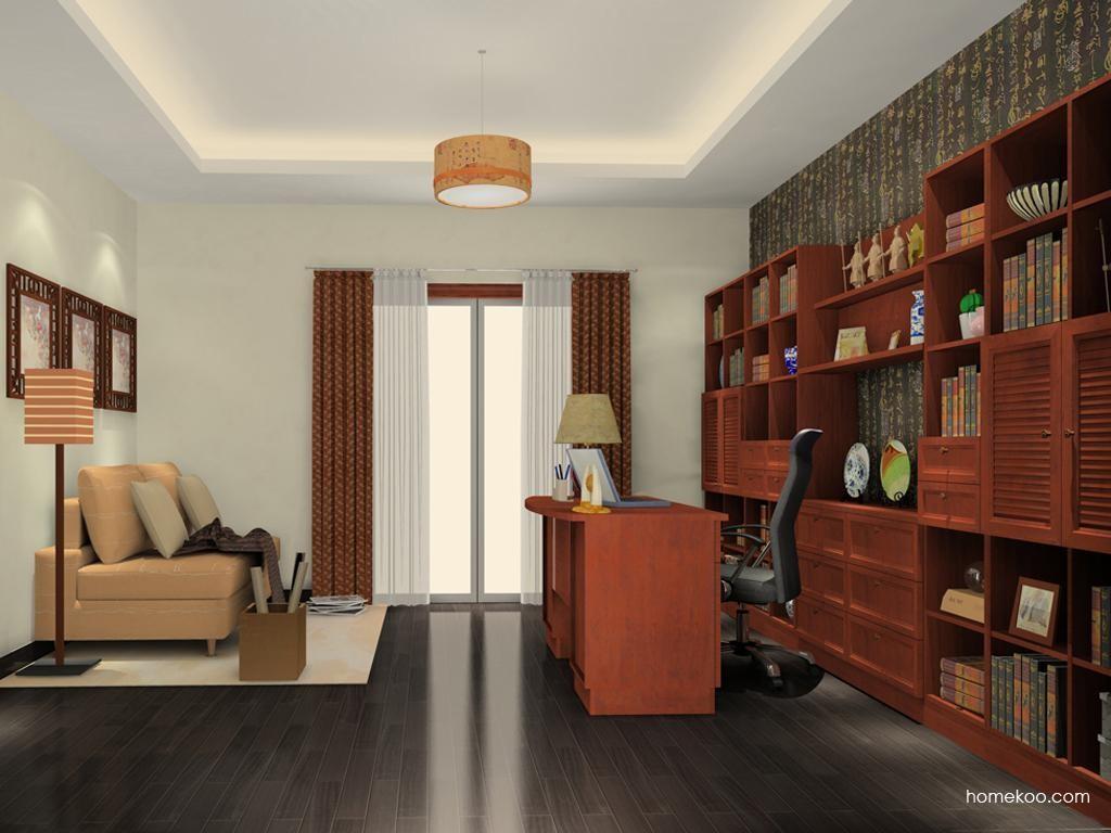 新中式主义书房家具C11460
