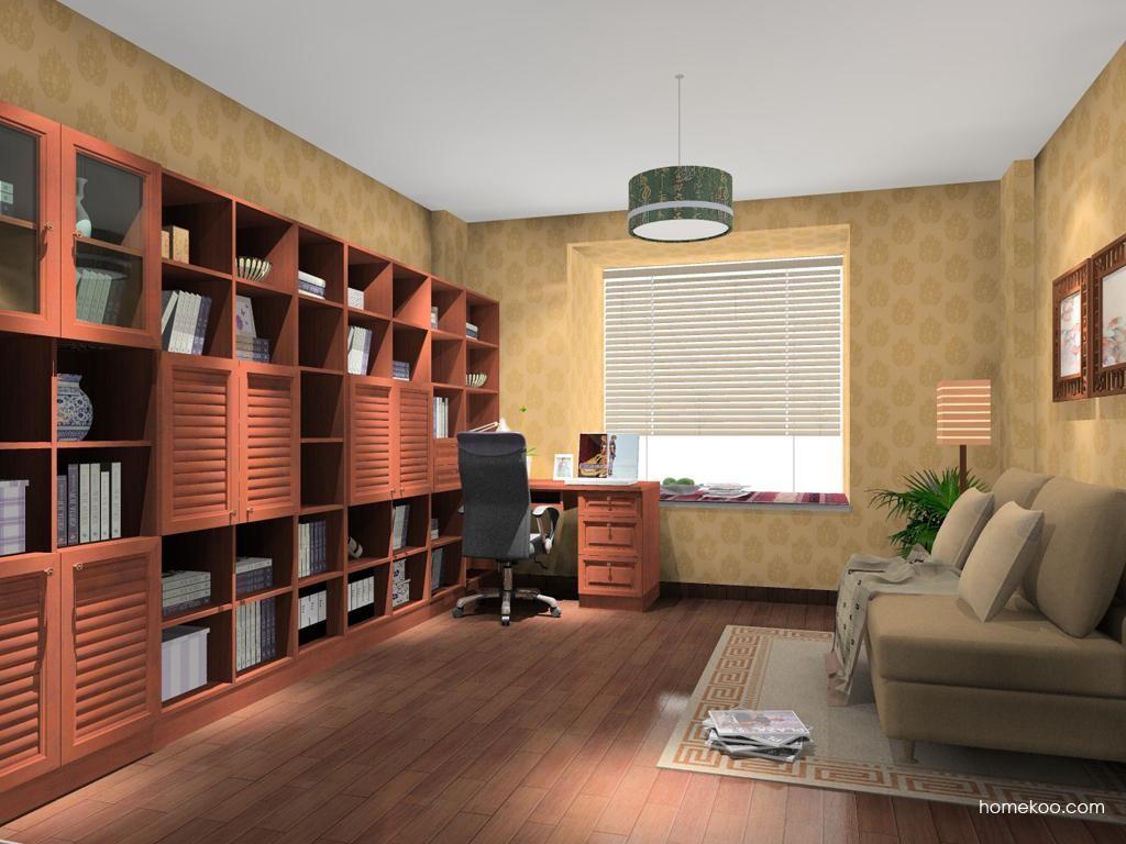 新中式主义书房家具C11486