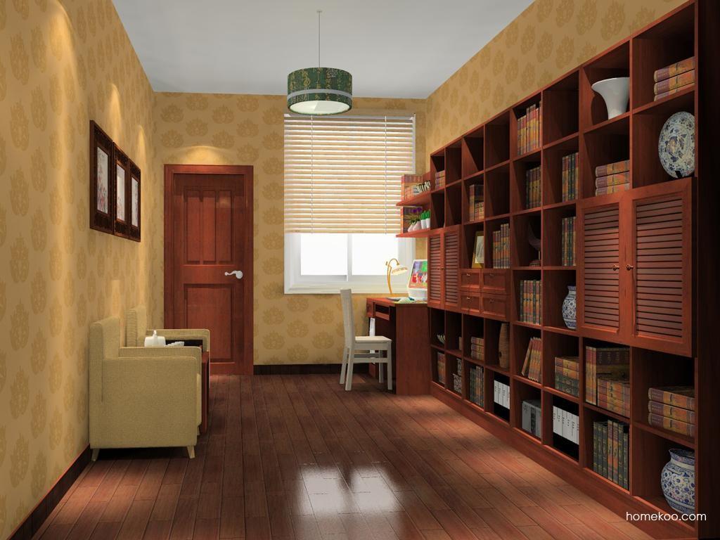 新中式主义书房家具C11491