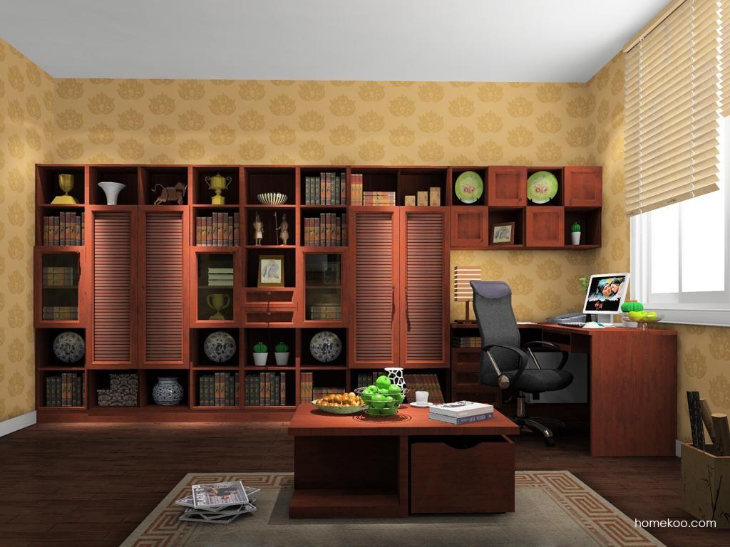 新中式主义书房家具C11528