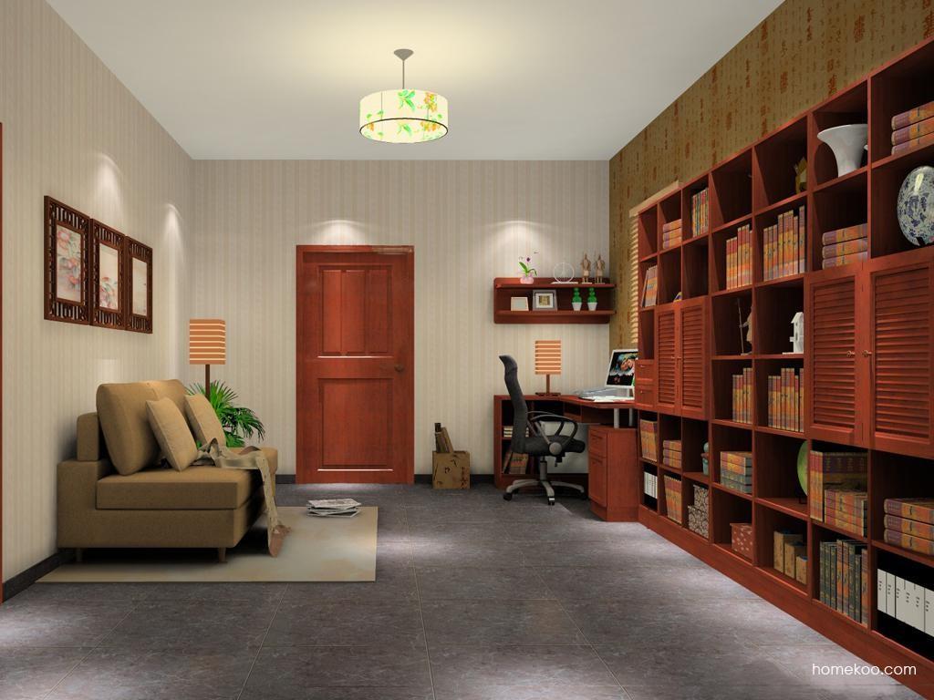 新中式主义书房家具C11540