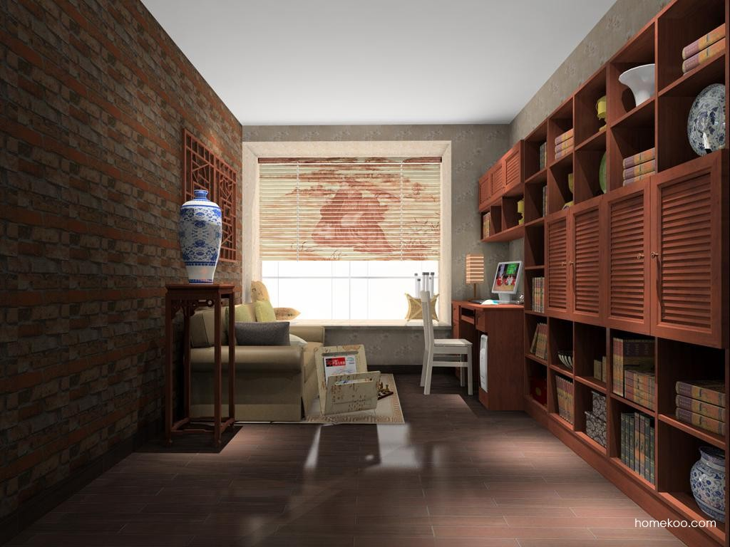 新中式主义书房家具C11551