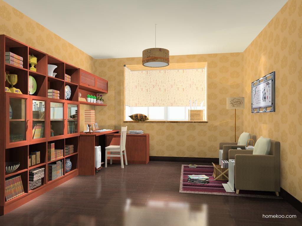 新中式主义书房家具C11566