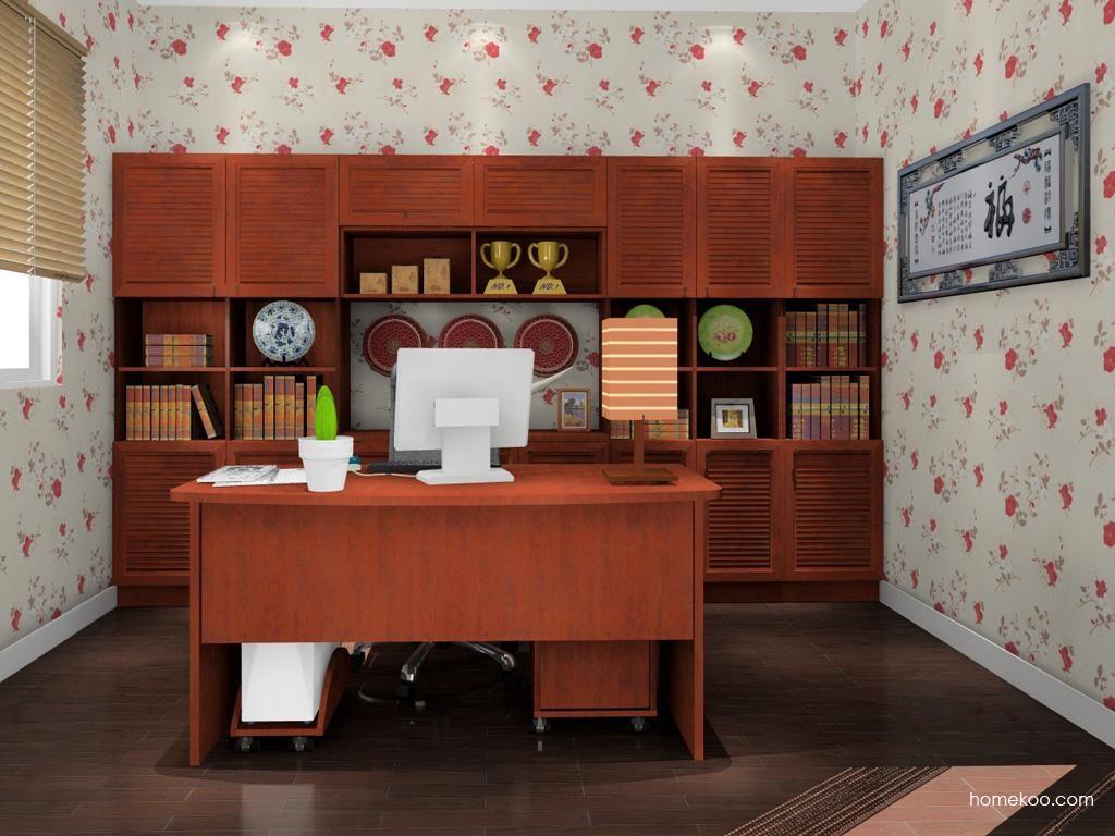 新中式主义书房家具C11600