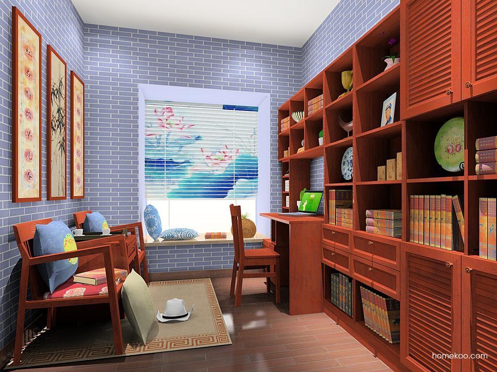 新中式主义书房家具C11668