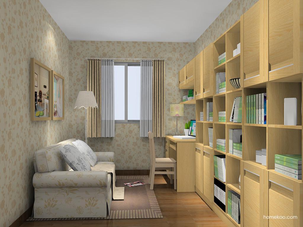丹麦本色书房家具C14614