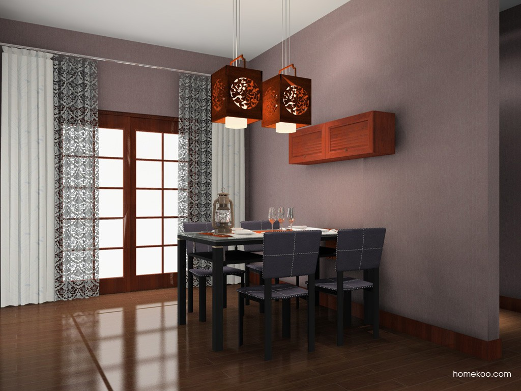 新中式主义餐厅家具E11078