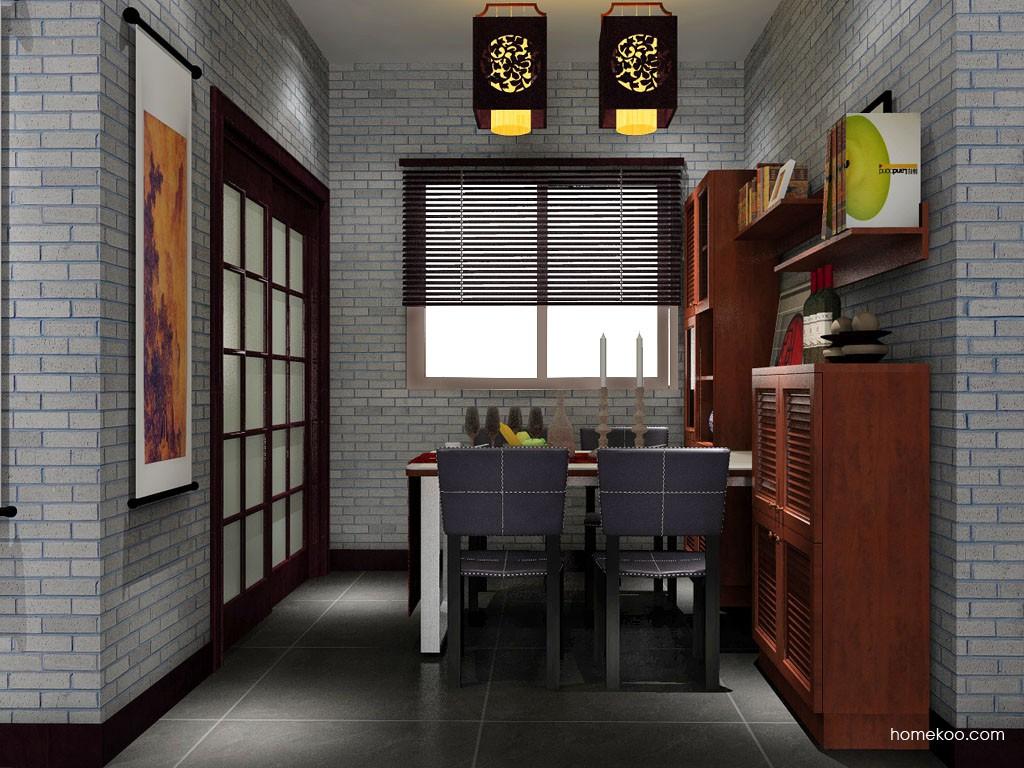 新中式主义餐厅家具E11080