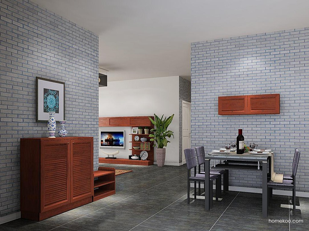 新中式主义餐厅家具E11109
