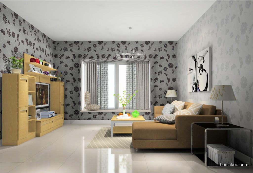 丹麦本色客厅家具D14167