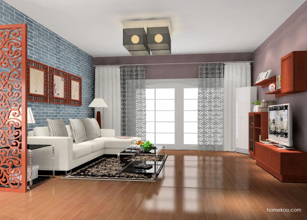 新中式主义客厅家具D14179