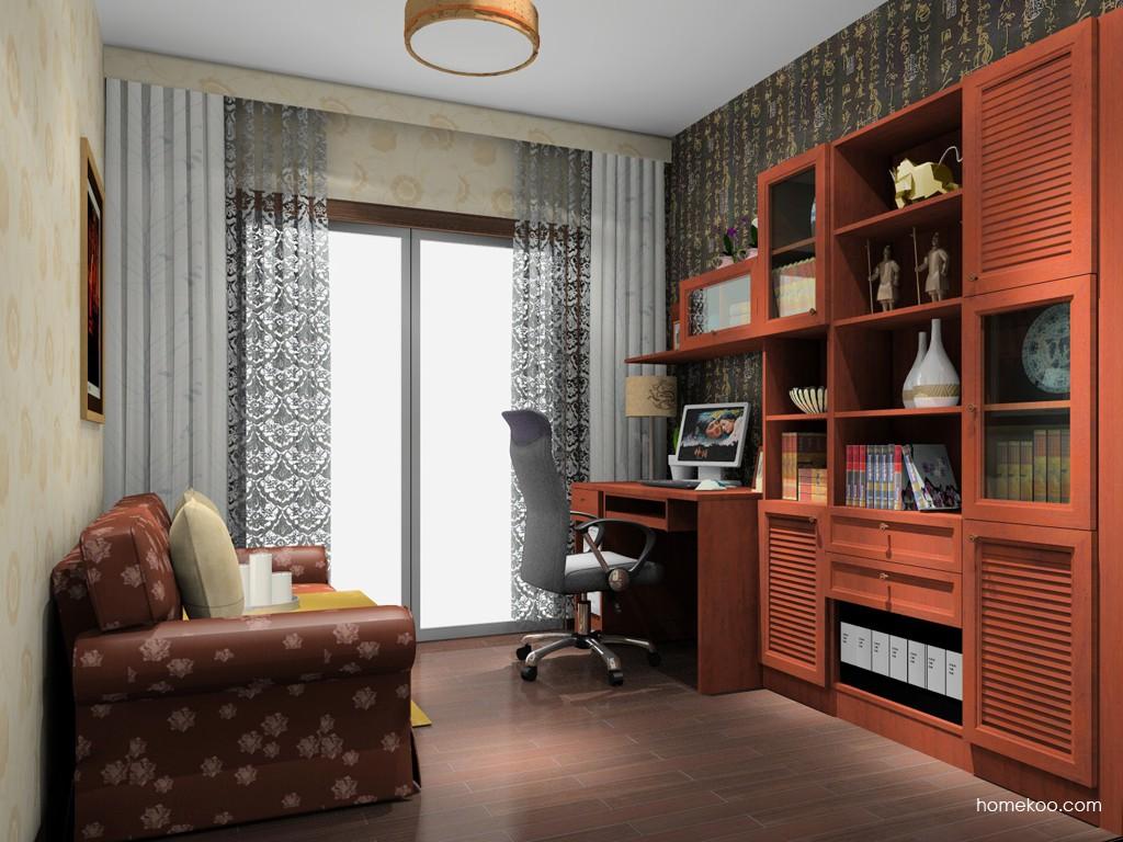 新中式主义书房家具C15000