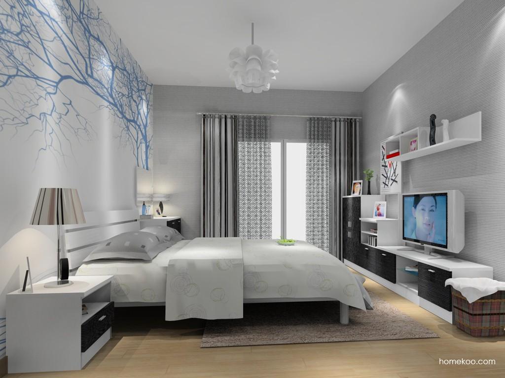简约主义卧房家具A14908