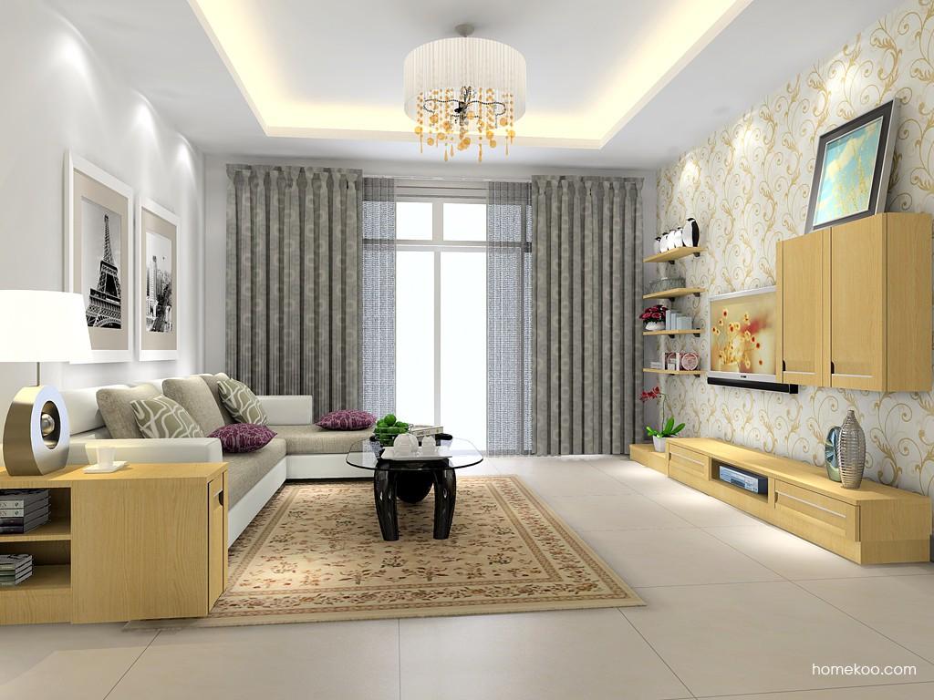 丹麦本色客厅家具D15375