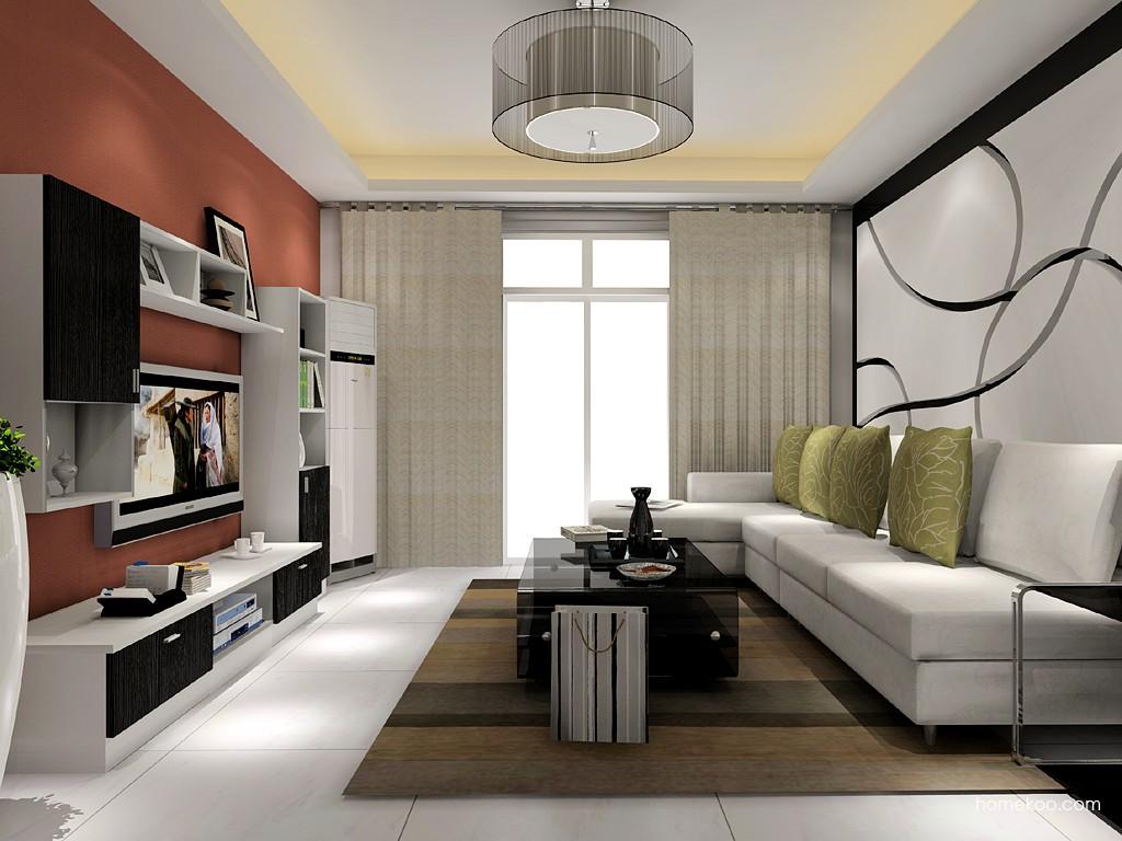 新实用主义客厅家具D15434