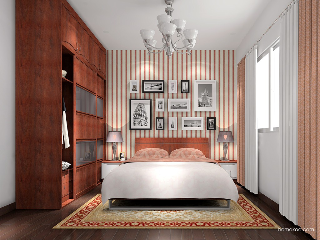 挪威月色卧房家具A15790