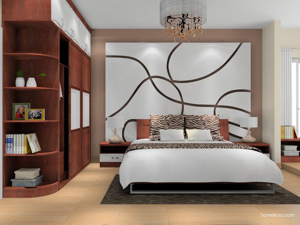 挪威月色卧房家具A16306