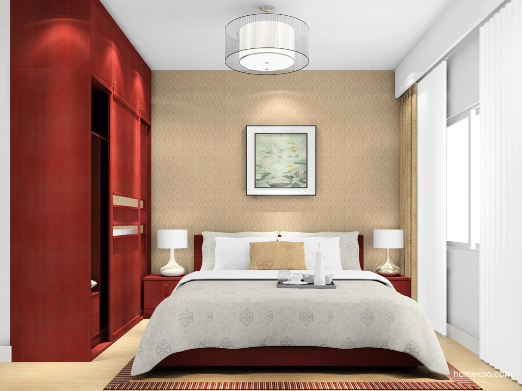 诺曼红影卧房家具A16383