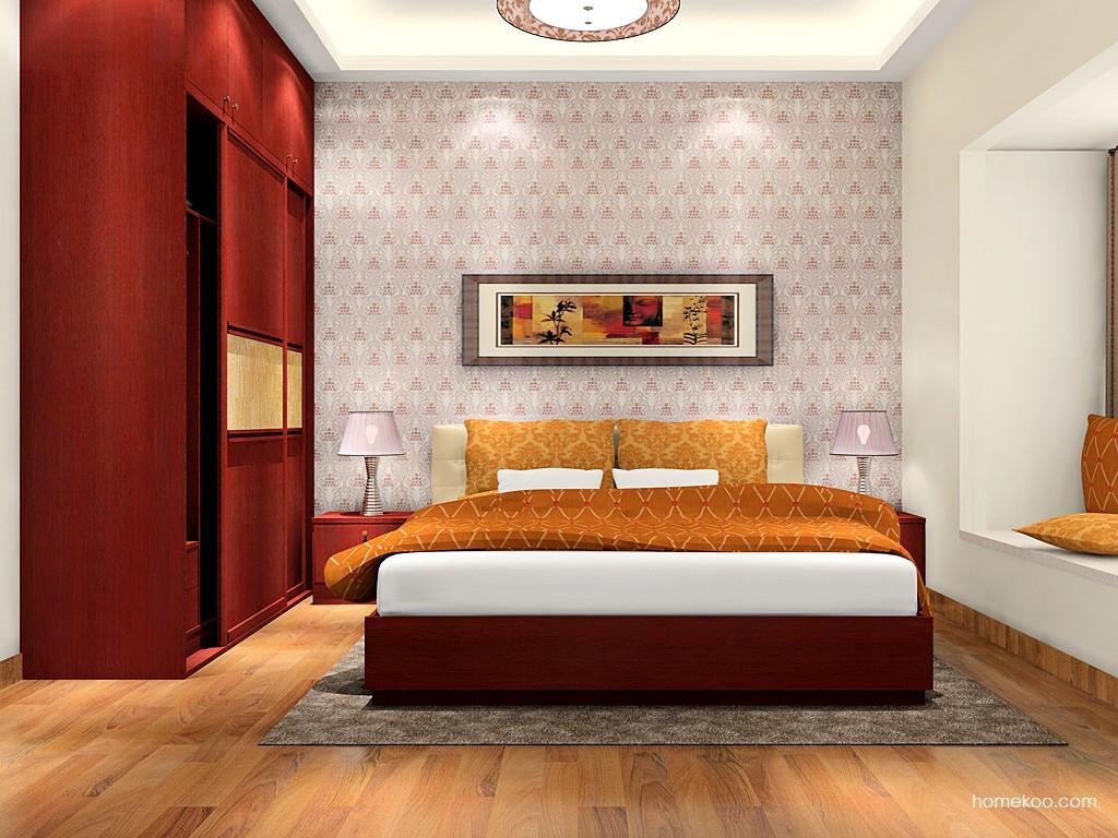 诺曼红影卧房家具A16479