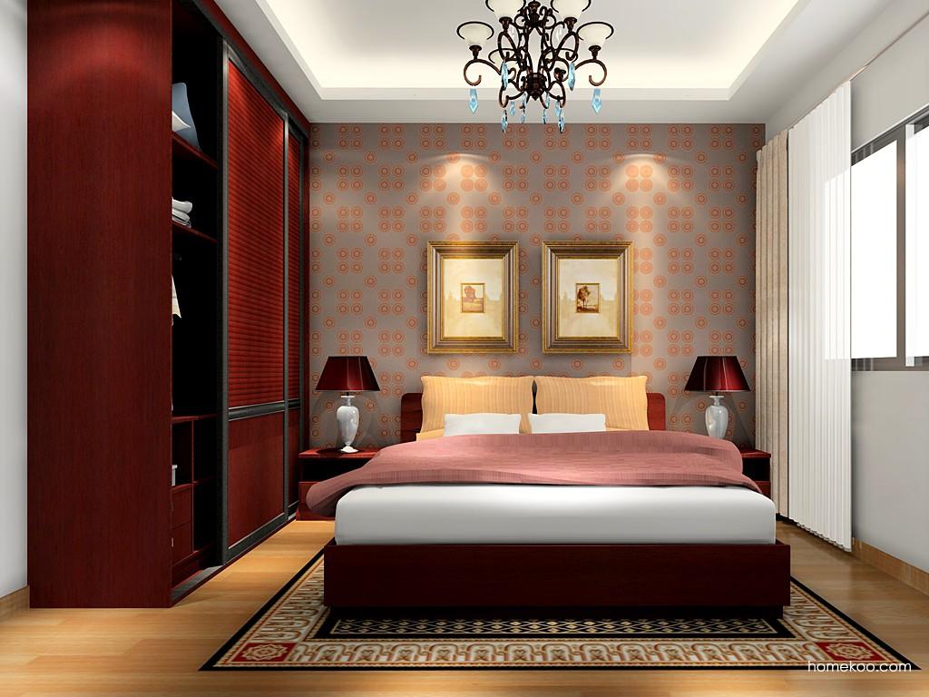 诺曼红影卧房家具A16486