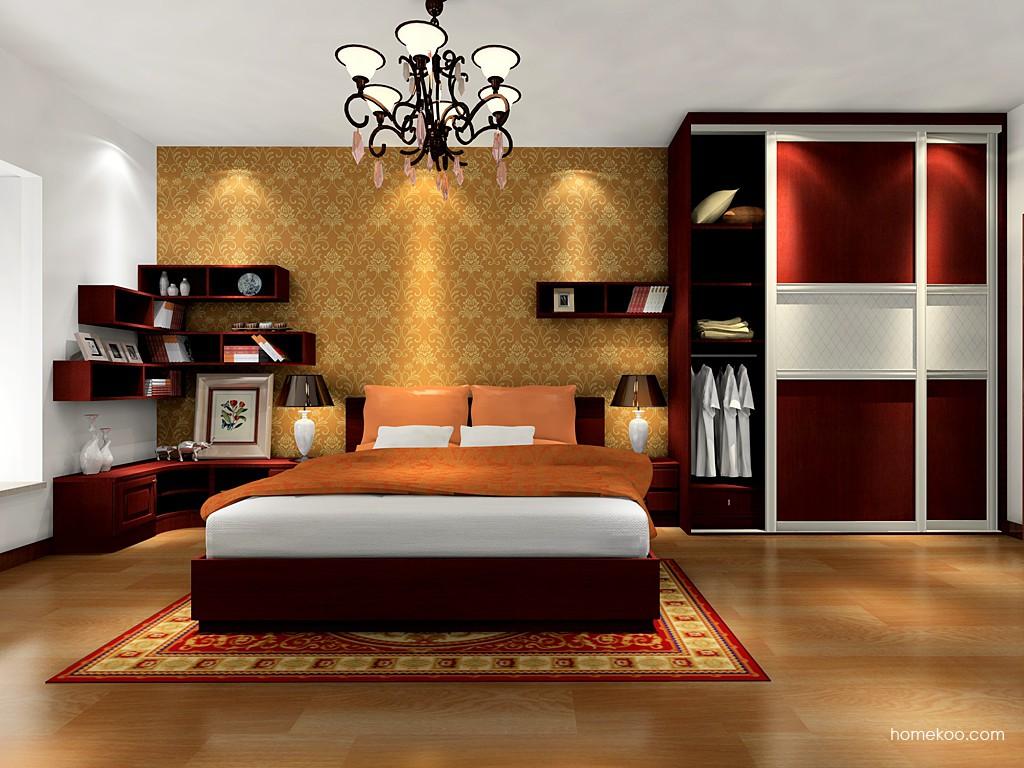 诺曼红影卧房家具A16513