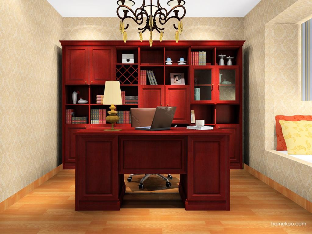 诺曼红影书房家具C15608