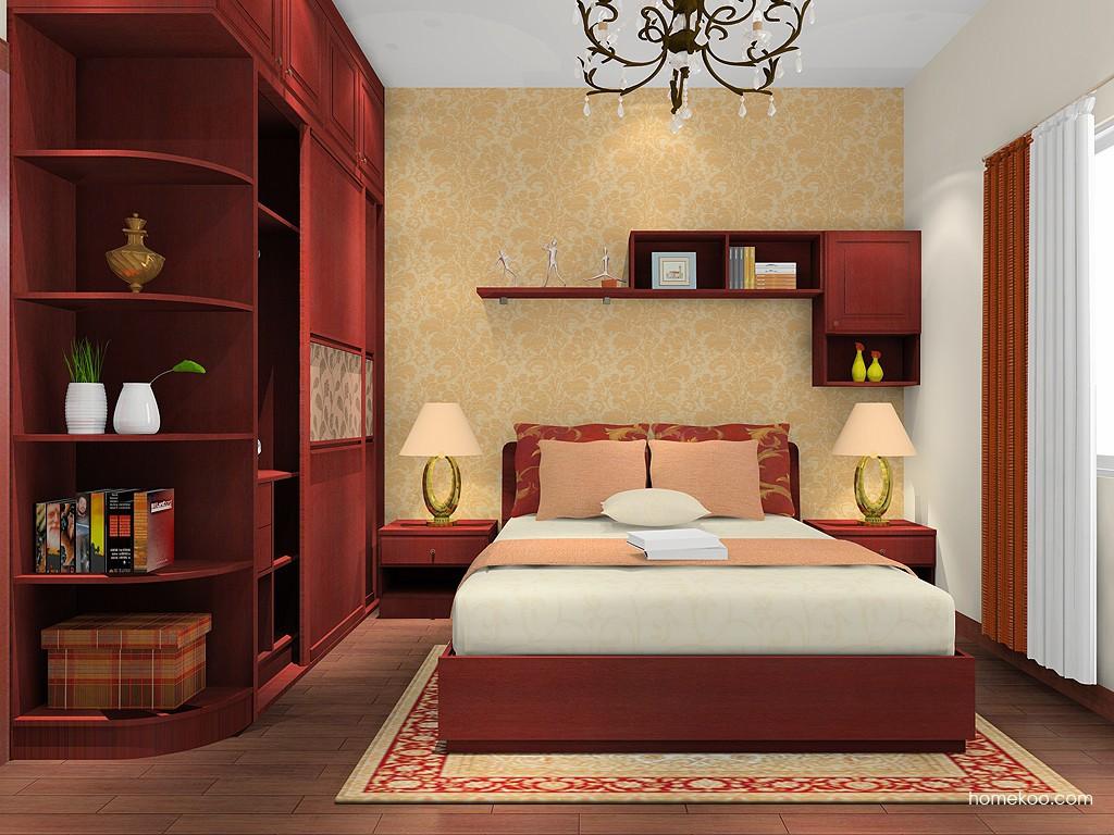 诺曼红影卧房家具A16558