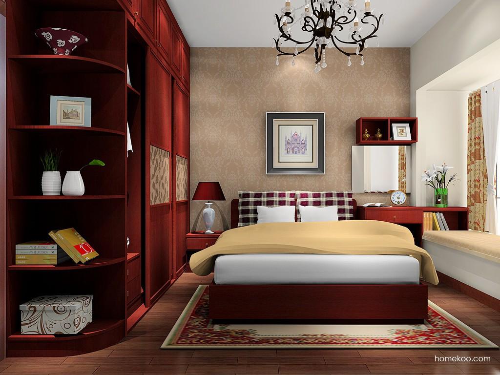 诺曼红影卧房家具A16559