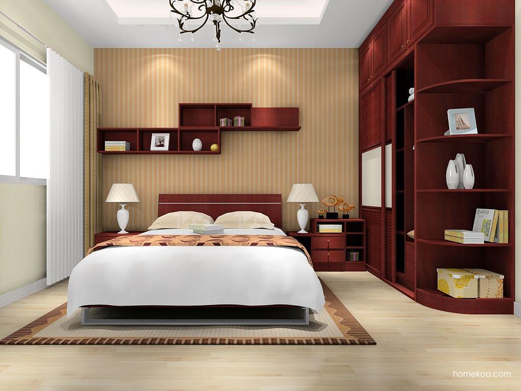 诺曼红影卧房家具A16571