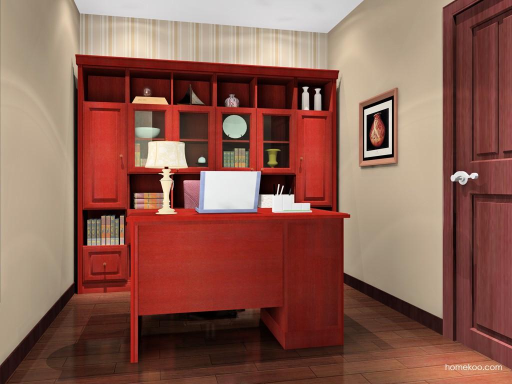 诺曼红影书房家具C15649