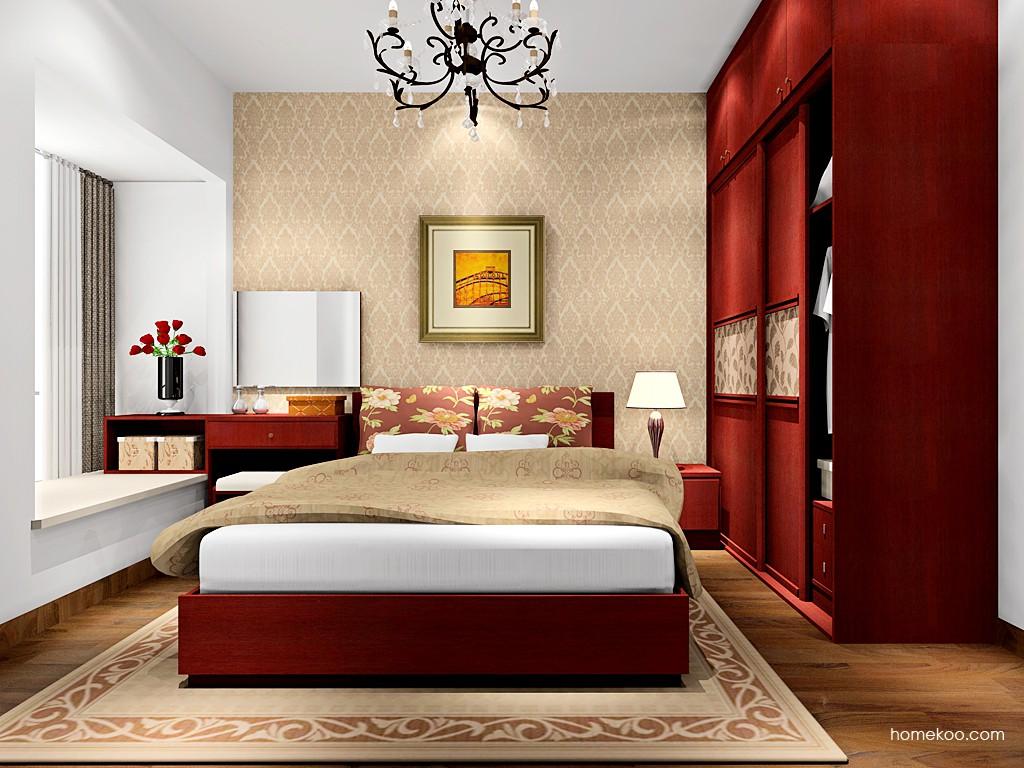 诺曼红影卧房家具A16588