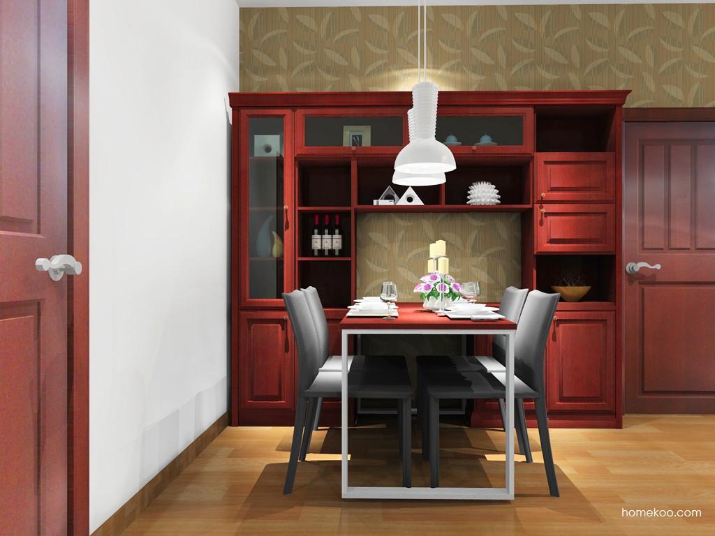诺曼红影餐厅家具E14940