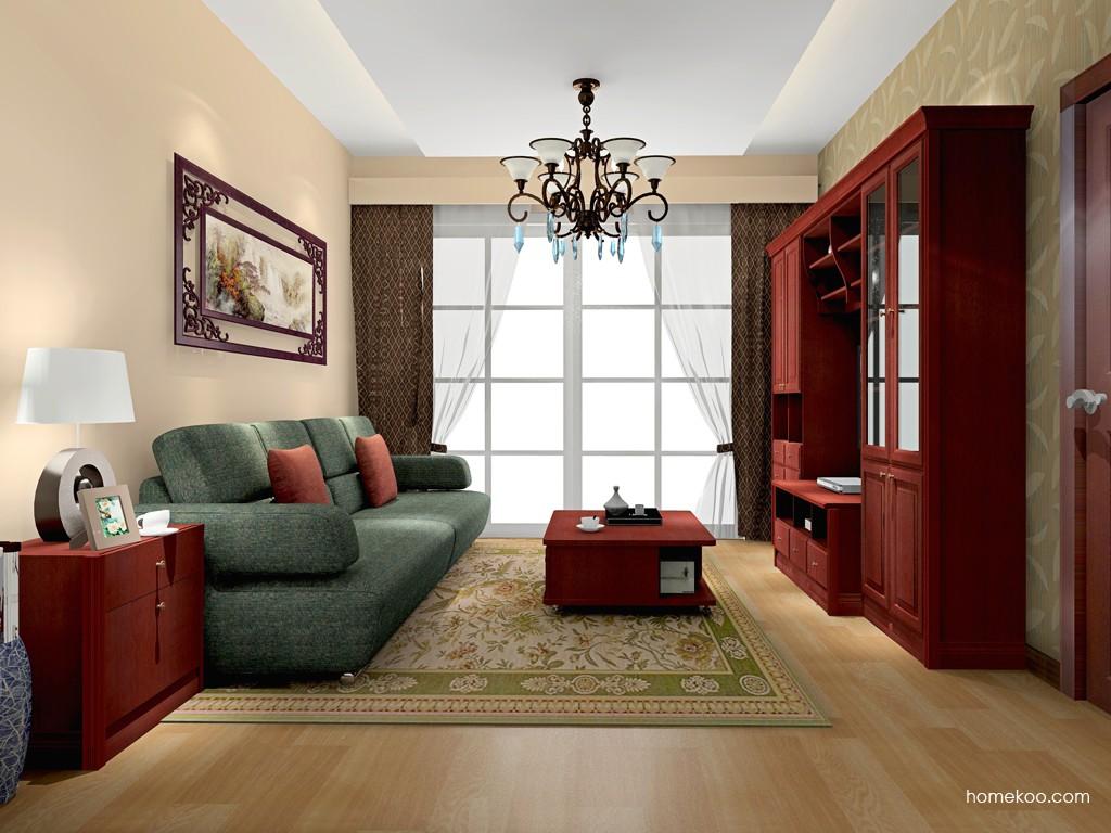 诺曼红影客厅家具D15753