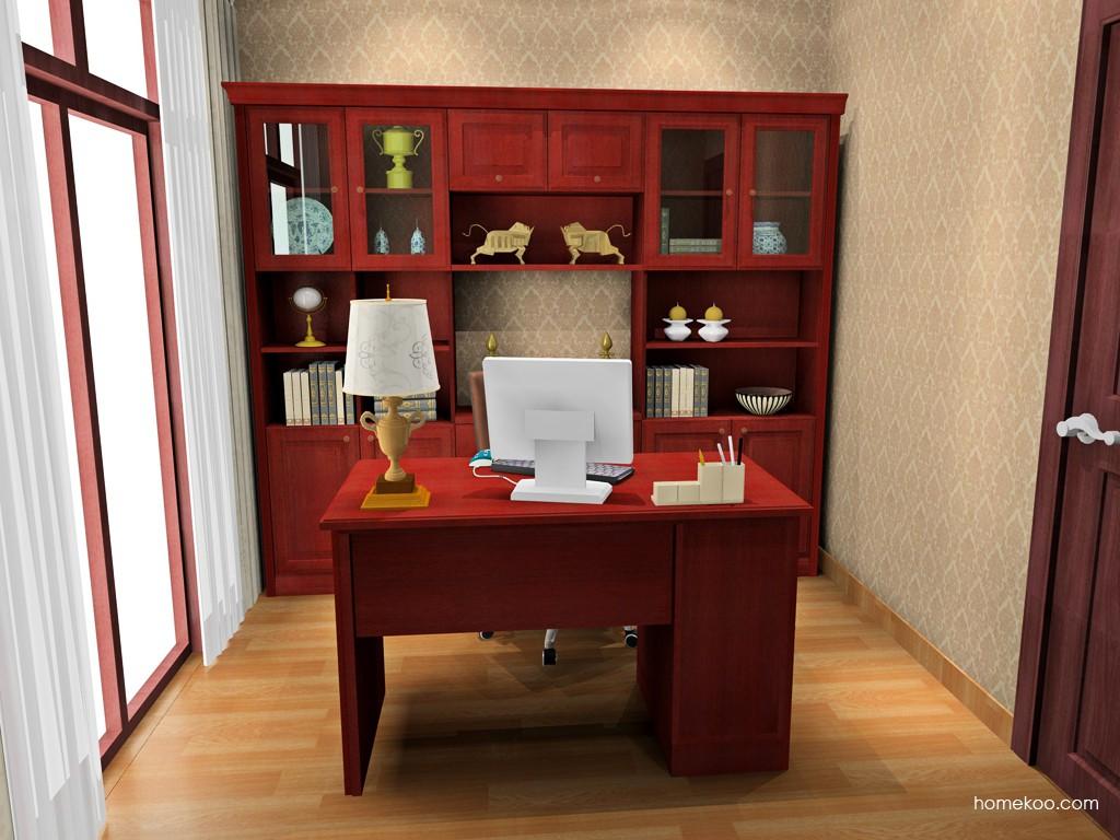 诺曼红影书房家具C15670