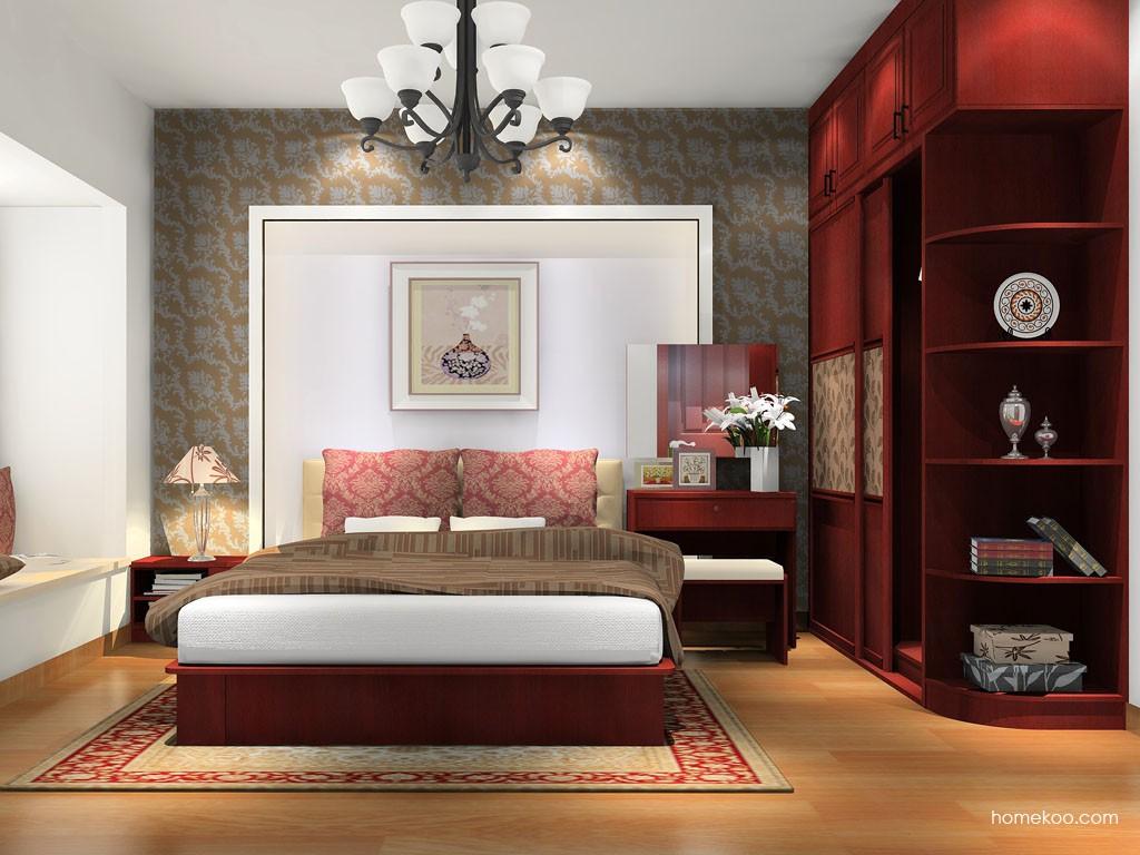 诺曼红影卧房家具A16620