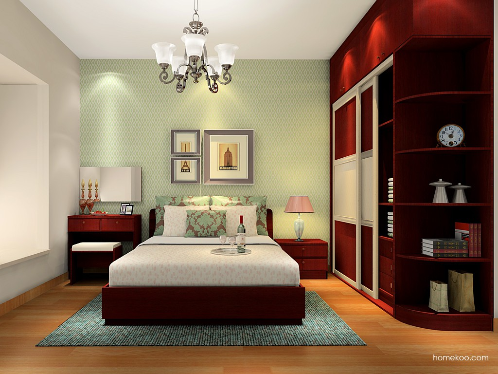 诺曼红影卧房家具A16621