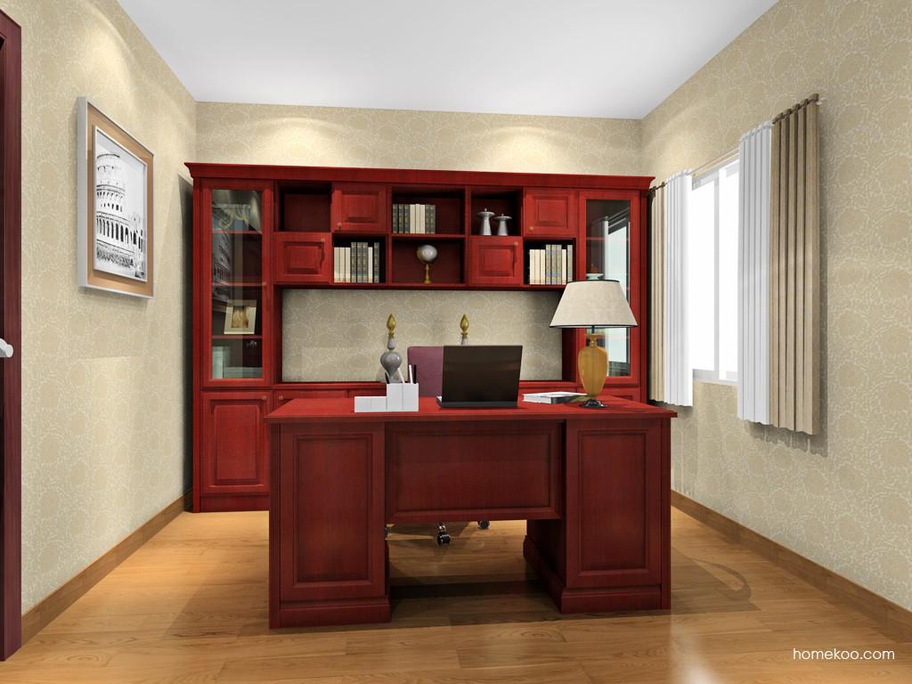 诺曼红影书房家具C15682