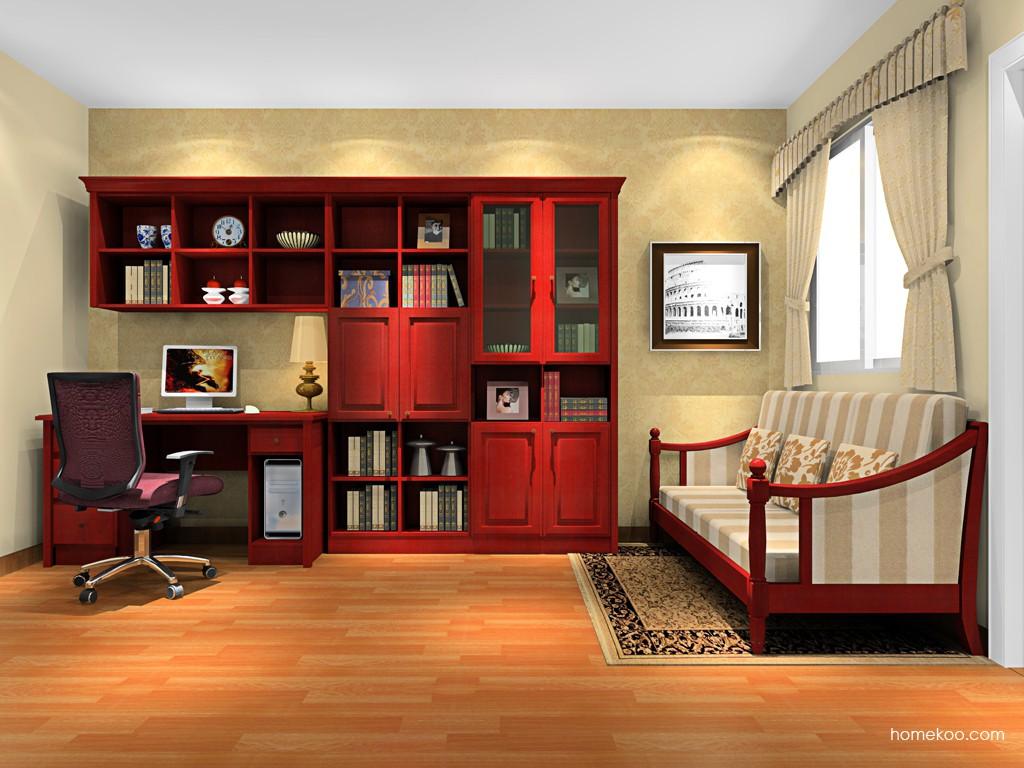 诺曼红影书房家具C15690