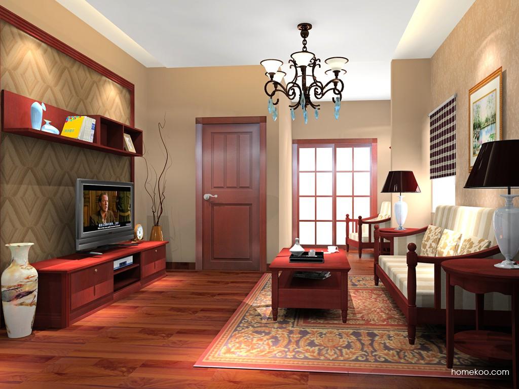 诺曼红影客厅家具D15756