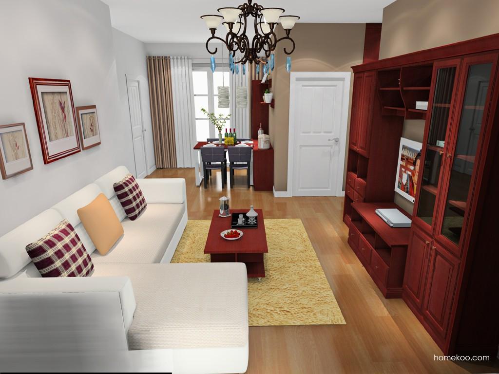 诺曼红影客厅家具D15760