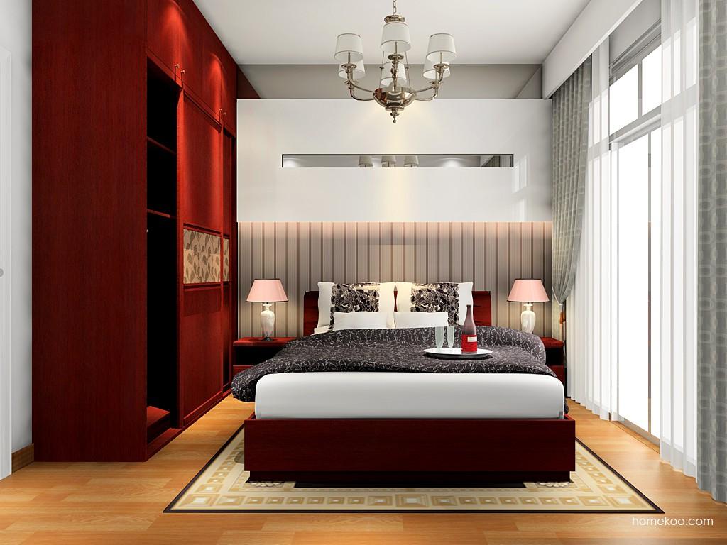 诺曼红影卧房家具A16651