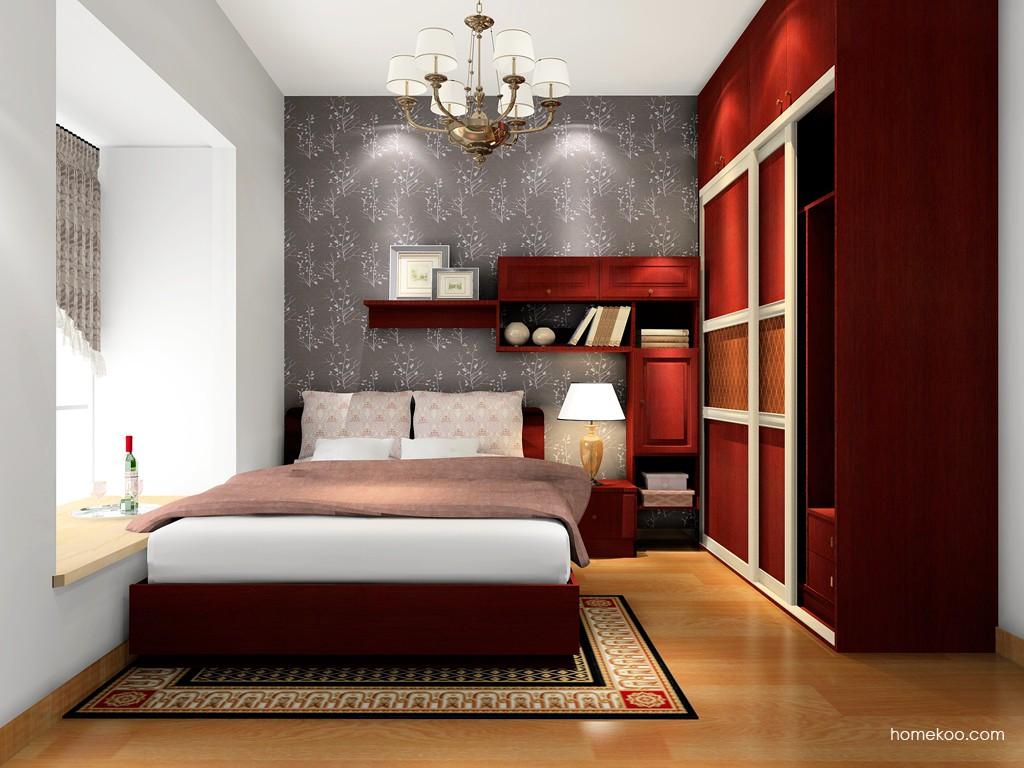 诺曼红影卧房家具A16663