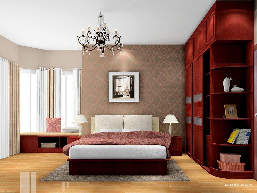 诺曼红影卧房家具A16668