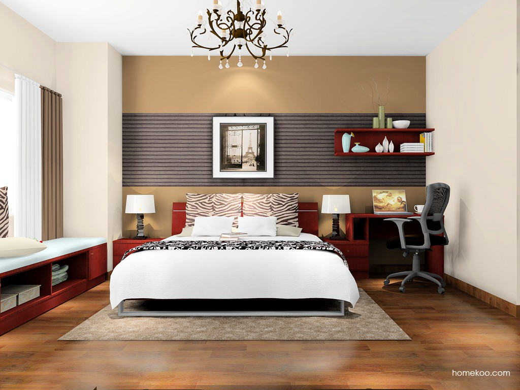 诺曼红影卧房家具A16727