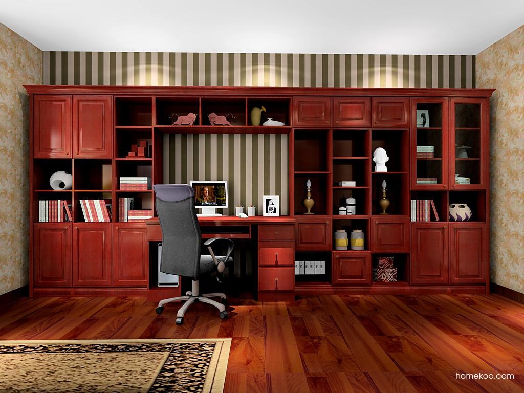 诺曼红影书房家具C16422