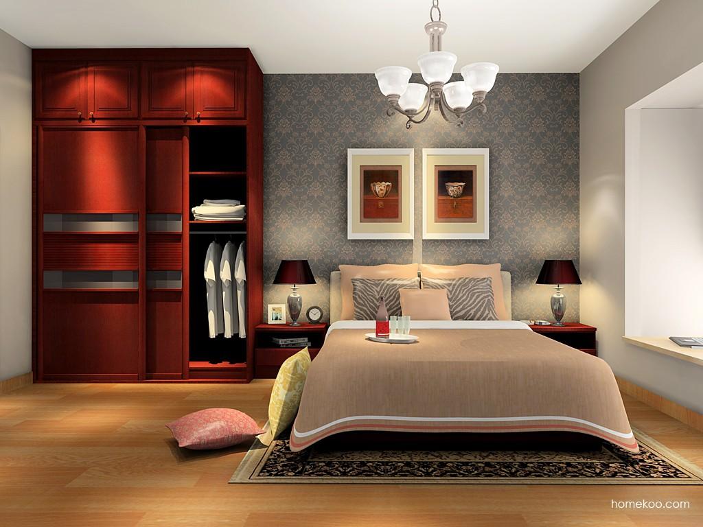 诺曼红影卧房家具A16742