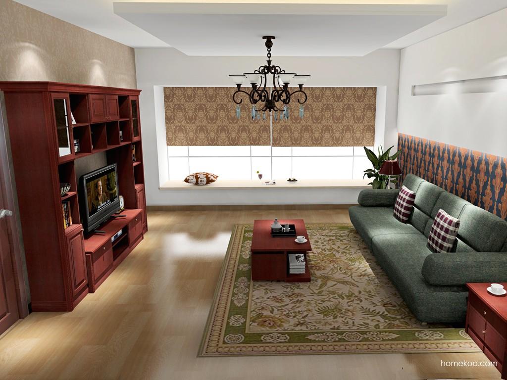 诺曼红影客厅家具D15835